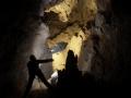 Ereszkedes a Banyasz-barlangban -200m korul vizjellel