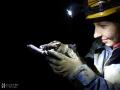 Kiskőháti-zsomboly, csapdába esett szalamandra