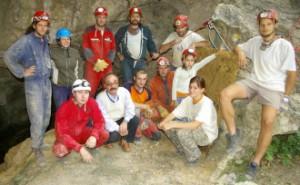 Strázsa-barlang újrafeltárás, 2006. Itt még én is látható vagyok. Forrás: a bebte régi honlapja