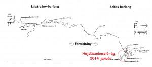 a barlang vázlatos térképe