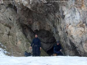 Peti a Leány-barlang bejáratánál (2005)