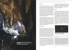 Részlet a Szivárvány-Sebes-barlangrendszer fejezetből