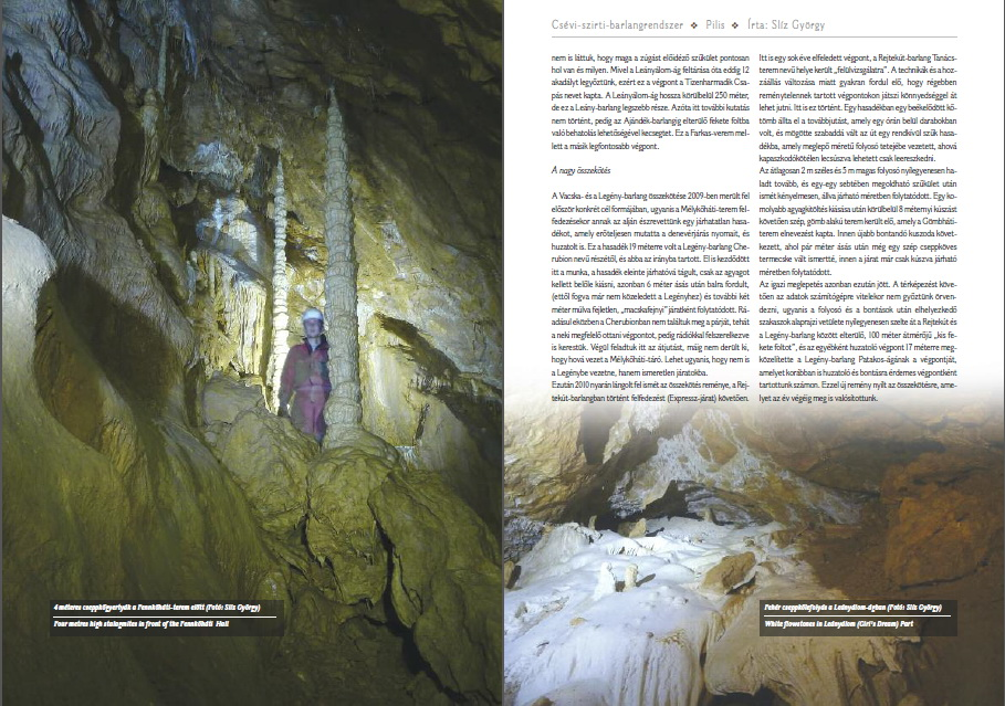 Részlet a Csévi-szirti-barlangrendszer fejezetből (2)