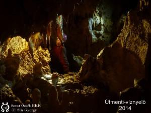 Az új hasadék a barlang legszebb, legtágasabb része