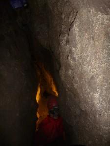 Az új barlang lényegében egyetlen hasadékból áll