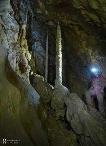 A Dunántúl legnagyobb cseppkövei a Vacska-barlangban