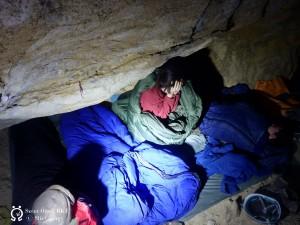 Az alvóhelyünk 500 m mélyen (Jó mélyen alhattunk!)