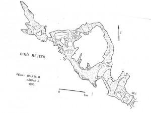 A régi részek térképen (forrás: Barlangnyilvántartás)